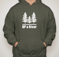Up A River Hooded Sweatshirt - 2 XL