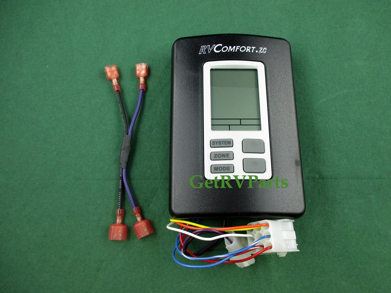 Coleman 9330-3341 RV Comfort A/C Multi Zone Thermostat Black