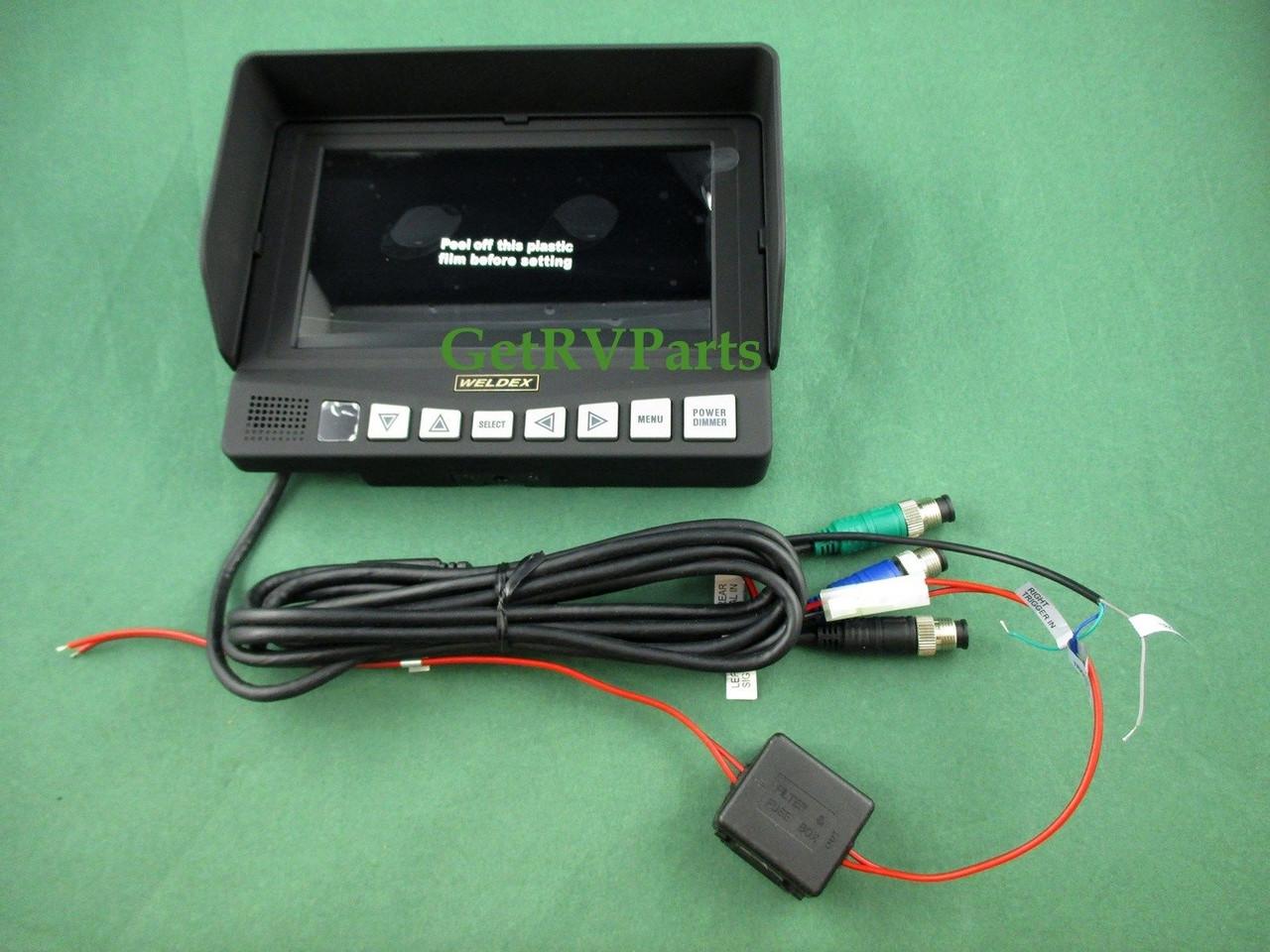 weldex wiring diagram weldex rv 7  rear view monitor system wdrv 7063 motorized camera  weldex rv 7  rear view monitor system