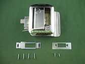 Global | 013-572 | RV Travel Trailer Entry Door Entrance Lock Assembly Chrome