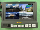 Weldex WDRV-7464M Rear View 7 Inch Backup Monitor 4 Camera Inputs Quad View