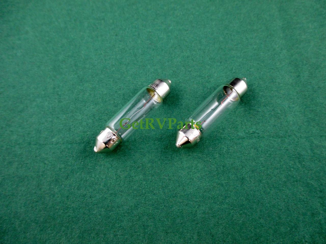 Dometic 200729000P RV Refrigerator Light Bulb 2 Pack 12 Volt 10