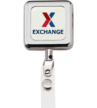 Retractable Badge Holder - Square