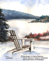 Winter Adirondack Chair Greeting Card