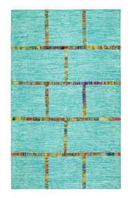 Aditi Flatweave Blue Area Rug  - 5' x 8'