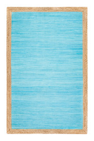Aganippe Hand-Loomed Blue Area Rug  - 8' x 10'