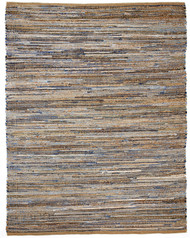 "American Graffiti Denim & Jute Rug - 2'6"" x 8'"