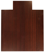 "Bamboo Deluxe Roll-Up Chairmat, 44"" x 52"", with lip - Dark Cherry"