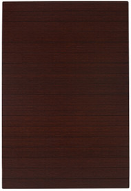 "Bamboo Deluxe Roll-Up Chairmat, 72"" x 48"", no lip - Dark Cherry"