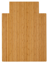 "Bamboo Roll-Up Chairmat, 36"" x 48"", with lip - Natural"