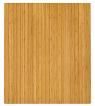 "Bamboo Roll-Up Chairmat, 42"" x 48"", no lip - Natural"