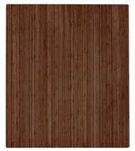 "Bamboo Roll-Up Chairmat, 42"" x 48"", no lip - Walnut"