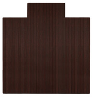 "Bamboo Roll-Up Chairmat, 55"" x 57"", with lip - Dark Cherry"