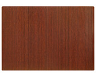 "Bamboo Roll-Up Chairmat, 60"" x 48"", no lip - Dark Cherry"