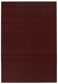 """Bamboo Roll-Up Chairmat, 72"""" x 48"""", no lip - Dark Cherry"""