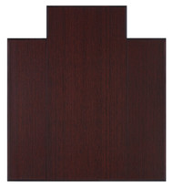 "Bamboo Tri-Fold Plush Chairmat, 47"" x 51"", with lip - Dark Cherry"