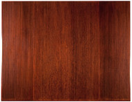 "Bamboo Tri-Fold Plush Chairmat, 47"" x 60"", no lip - Dark Cherry"