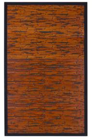 Cobblestone Mahogany Bamboo Rug - 6' x 9'