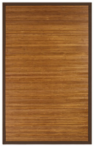 Contemporary Chocolate Bamboo Rug - 4' x 6'