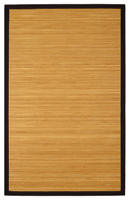 Contemporary Natural Bamboo Rug - 4' x 6'