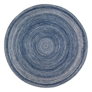 Epona Braided Round Blue Area Rug  - 4' Round