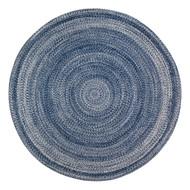 Epona Braided Round Blue Area Rug  - 6' Round