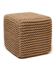 "Natural Jute Pouf Square - 18"" x 18"" x 18"""