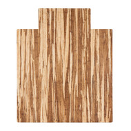 "Strand-Woven Bamboo Roll-Up Chairmat, 44"" x 52"", with lip"