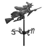 Whitehall Flying Witch Garden Weathervane - Black - Aluminum