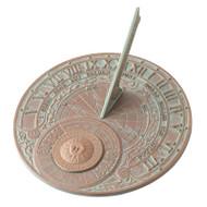 Whitehall Perpetual Calendar Sundial - Copper Verdigris - Aluminum