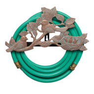 Whitehall Chickadee Hose Holder - Copper Verdigris - Aluminum