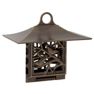 Whitehall Nuthatch Suet Feeder - French Bronze - Aluminum