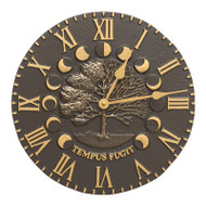 Whitehall Times and Seasons Clock - French Bronze - Aluminum