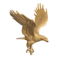 Whitehall 30  Full-Bodied Eagle Weathervane - Gold-Bronze - Aluminum