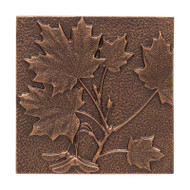 Whitehall Maple Leaf Wall Décor - Antique Copper - Aluminum