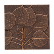 Whitehall Aspen Leaf Wall Décor - Antique Copper - Aluminum