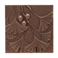 Whitehall Gingko Leaf Wall Décor - Antique Copper - Aluminum