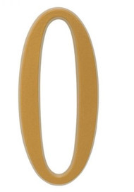 """Whitehall 4.75"""" Number 0 Flat gold"""