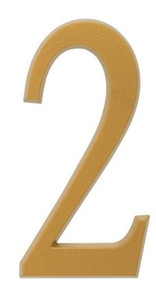 """Whitehall  4.75"""" Number 2 Flat gold"""