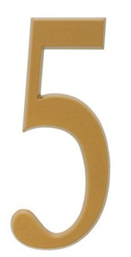"""Whitehall  4.75"""" Number 5 Flat gold"""