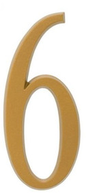 """Whitehall  4.75"""" Number 6 Flat gold"""