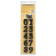 Whitehall Richfield Home Address Sign Kit- Black - ABS Polymer