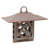 Whitehall Oak Leaf Suet Feeder - Copper Verdigris - Aluminum
