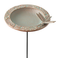 Whitehall Dragonfly Garden Bird Feeder - Copper Verdigris - Aluminum