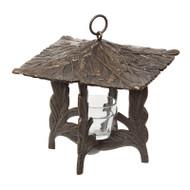 Whitehall Pinecone Twilight Lantern - French Bronze - Aluminum