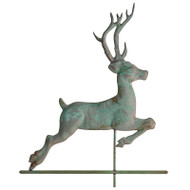 Whitehall Copper Deer Weathervane - Verdigris - Copper