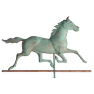 Whitehall Copper Horse Weathervane - Verdigris - Copper