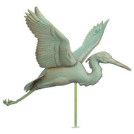 Whitehall Copper Heron Weathervane - Verdigris - Copper