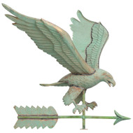 Whitehall Copper Eagle Weathervane - Verdigris - Copper