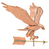 Whitehall Copper Eagle Weathervane - Polished - Copper